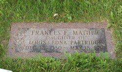 Frances E. <i>Partridge</i> Mather