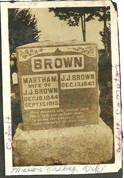 Martha Madeline <i>Burgess</i> Brown