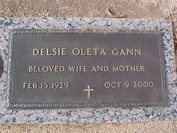 Delsie Oleta <i>Smith</i> Gann