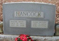 Hattie <i>Meeks</i> Hancock