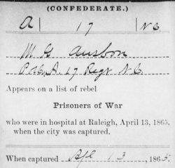 Pvt McGilbray A. Ausbon