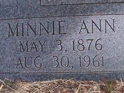 Minnie Ann <i>Sapp</i> Proffitt