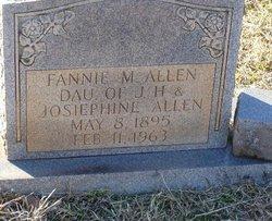 Fannie M Allen