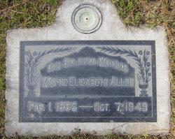 Mattie Elizabeth <i>Bybee</i> Allen