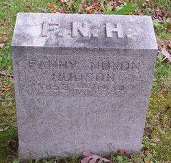 Frances Irene Fanny <i>Noxon</i> Hudson
