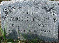 Alice D Branin