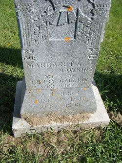 Margaret A <i>Hawkins</i> Gallion Ricks