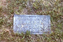 Sarah Jane <i>Rankin</i> Blackburn