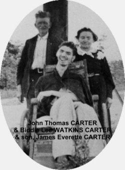 Biddie Lee <i>Watkins</i> Carter