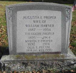 Augusta E <i>Proper</i> Hawver