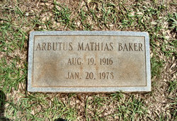 Arbutus <i>Mathias</i> Baker
