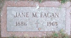 Jennie M. Jane <i>Judd</i> Fagan