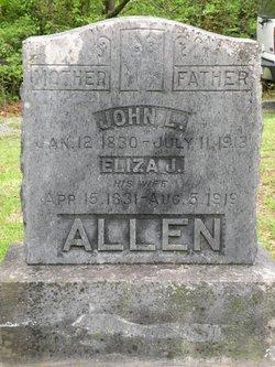 Eliza Jane Lizzie <i>Morris</i> Allen
