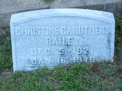 Christine <i>Caruthers</i> Bailey