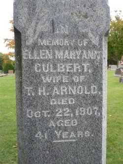 Ellen Mary Ann <i>Culbert</i> Arnold