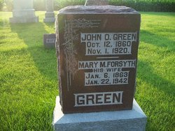 Mary M <i>Forsyth</i> Green