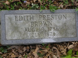 Edith Edy <i>Preston</i> Brown