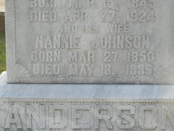 Nannie <i>Johnson</i> Anderson
