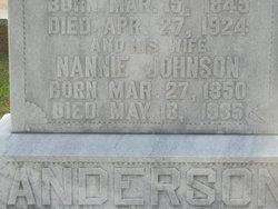 Nannie <i>Johnson</i> Anderson
