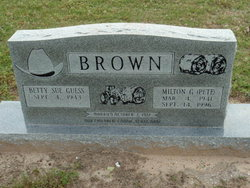 Betty Sue <i>Guess</i> Brown