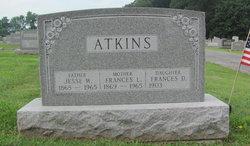 Frances Isabella Fannie <i>Leaverton</i> Atkins