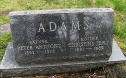 Christine Elizabeth <i>Teply</i> Adams