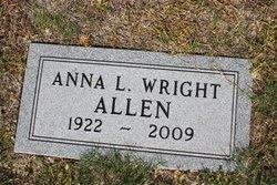 Anna L <i>Wright</i> Allen