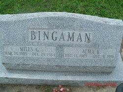 Alma K Bingaman