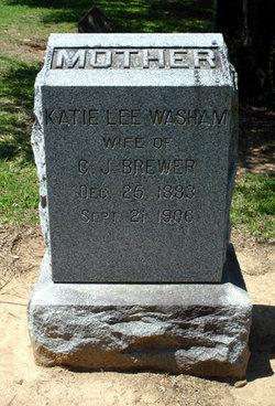 Katie Lee <i>Washam</i> Brewer