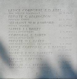 Lance Corporal Ernest Douglas Abel