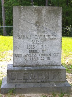 Sarah Catherine <i>Mize</i> Clements