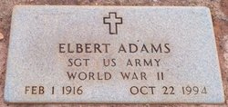Sgt Elbert Adams