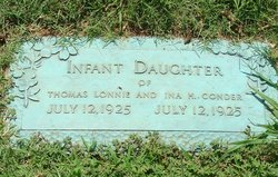Infant Daughter Conder