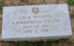 Lela B <i>Martin</i> Ammerman Fields