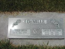 Carol <i>Hillyard</i> Demille