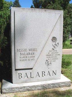 Bessie <i>Weitz</i> Balaban