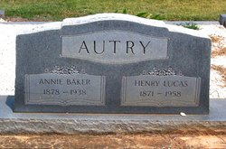 Annie <i>Baker</i> Autry