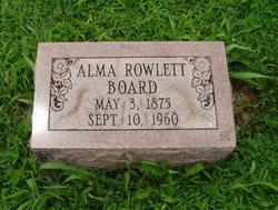 Alma <i>Rowlett</i> Board