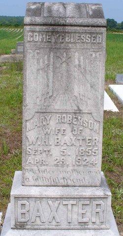 Mary Polly <i>Robinson</i> Baxter