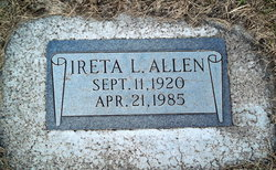 Ireta L Allen