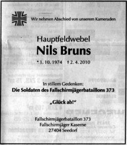 Sgt Nils Bruns