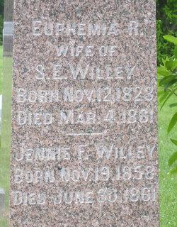 Euphemia R Wilson Willey