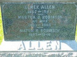 Martha J <i>Robinson</i> Allen