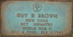 Sgt Guy D Brown