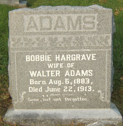 Bobbie <i>Hargrave</i> Adams