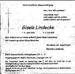 Gisela Lindecke