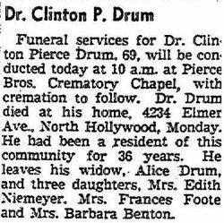 Clinton Pierce Drum