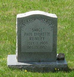 Paul Everette Sarge Rumley