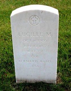 Lucille M <i>Jackman</i> Aabel
