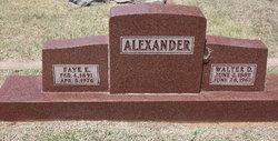 Faye E Alexander